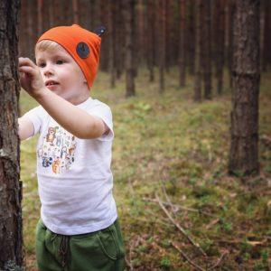 bawełniana czapka dla dzieci z uszkami WADERA