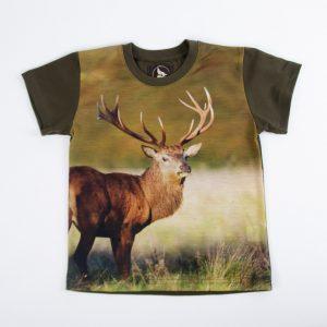 tshirt z jeleniem WADERA