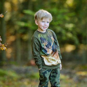Bawełniana bluza dla dzieci z jeleniem WADERA