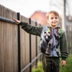 bluza myśliwska dla dzieci z niedzwiedziami Wadera
