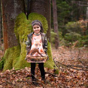 Sukienka z lisem WADERA