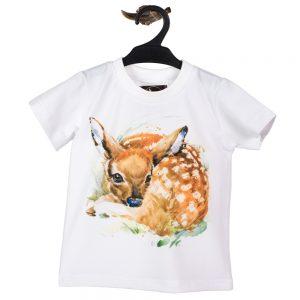 Odzież myśliwska dla dzieci Wadera t-shirt koszulka z sarenką bambi