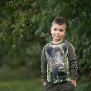 bluza z dzikiem wadera dla dzieci
