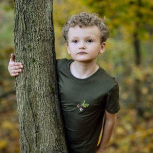 t-shirt koszulka myśliwska z haftem dla dzieci Wadera