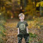 T-shirt z jeleniem dla dzieci WADERA