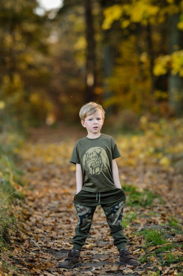 t-shirt z jeleniem dla dzieci