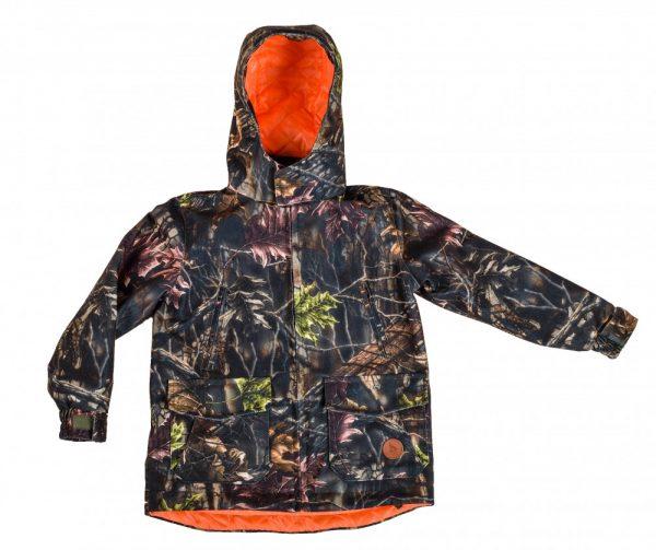 kurtka dziecięca leśny kamuflaż